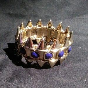 Jewelry - Bold Bracelet Blue and gold